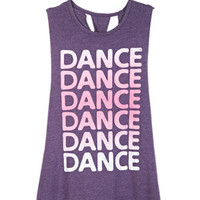 Dance Dance Braid-Back Tank - Purple