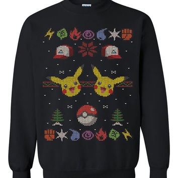 Pokemon Pikachu Ugly Christmas Sweater sweatshirt unisex adults size S-2XL