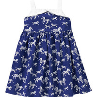 Gymboree Navy Zebra A-Line Dress - Infant, Toddler & Girls | zulily