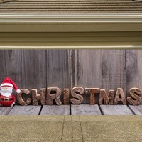Christmas Garage Door Cover Santa Banners 3d Holiday Outside Decorations Outdoor Decor for Garage Door G62