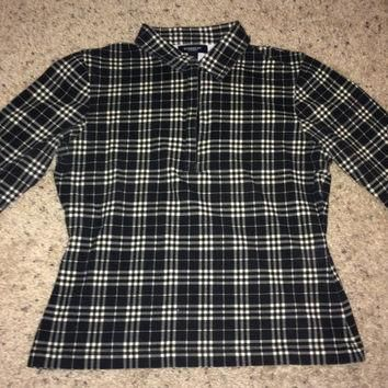 Sale!! Vintage Burberry London women's tops burberrys shirt