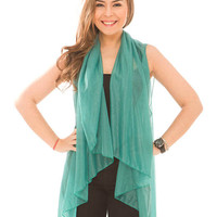 Get Your Green On Scarf Vest