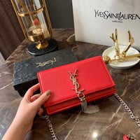 Saint Laurent YSL Leather Chain Shoulder bag