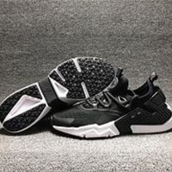 DCCK N474 Nike Air Huarache 6 Drift BR Breathable Running Shoes Black