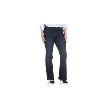Faded Glory Women's Curvy Bootcut Jeans W/ Flap Back Pocket, 4P, Phili Wash