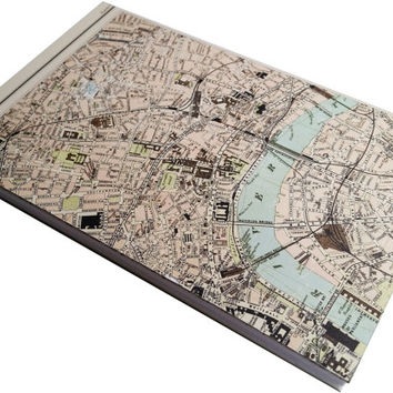 Central London atlas style blank journal 80 pages bound 5 1/2 X 8!/2