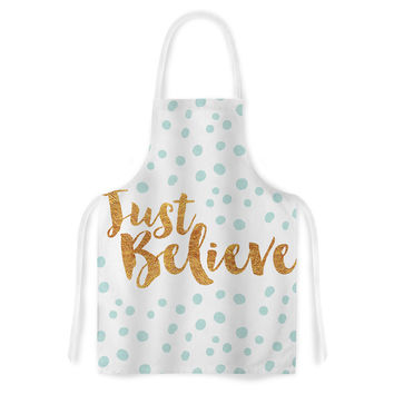"""Nick Atkinson """"Just Believe"""" White Gold Artistic Apron"""