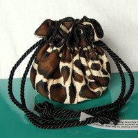LAUGHING GIRAFFE Luxury Jewelry Bag - Travel Drawstring Pouch - Tote