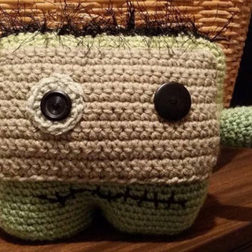 Lil Zombie Monster Amigurumi doll