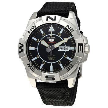 Seiko 5 Automatic Black Dial Mens Watch SRPA69