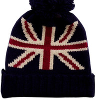Navy Hat Knit Hat British Flag Beanie British Hats Christmas Gift Ideas Stocking Stuffers - By PiYOYO