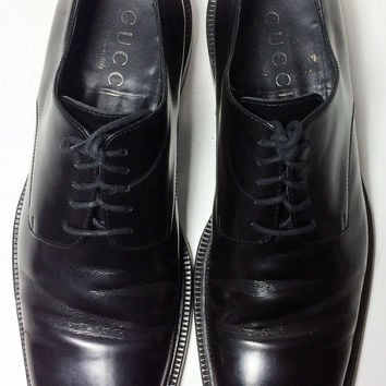 Gucci Black Leather Loafers Men's Shoes Size 10.5 Size 43