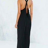 Silence + Noise Elijah Maxi Dress- Black