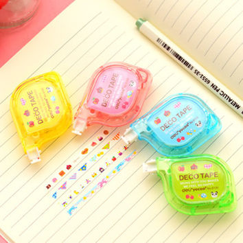 Deli Cute Kawaii Deco Decorative Diary Animal Masking Correction Tape Pens Stationery Office & School Supplies