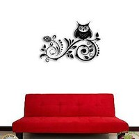 Wall Sticker Tree Branch Owl For Kids Cool Decor for Nursery Unique Gift z1367