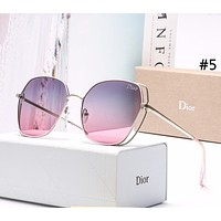 DIOR 2019 new women's personality UV protection large frame polarized sunglasses #5