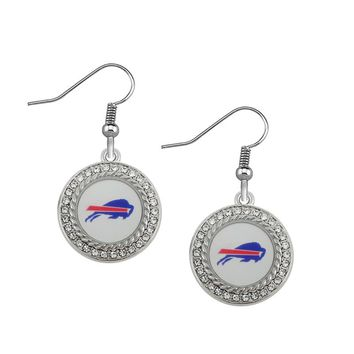 New Arrivals 10pair/lot silver rhinestone Drop Earrings Football Buffalo Bills Bengals Earriings for Sports Women Jewelry