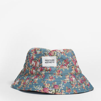 Portland Rose II Floral Bucket Hat in Teal