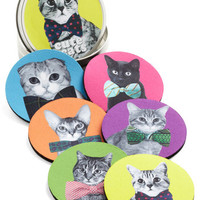 ModCloth Quirky Housecat Party Coaster Set