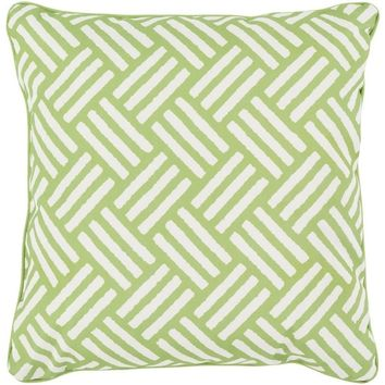 Hatch Modern Lime Green Outdoor Pillow