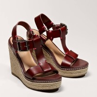 AEO T-Strap Wedge Espadrille | American Eagle Outfitters