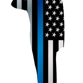 Police Officer Salute Thin Blue Line Background Image Large Wall Decals