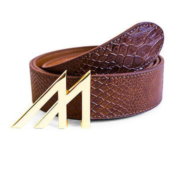 Mint Anaconda Belt Brown