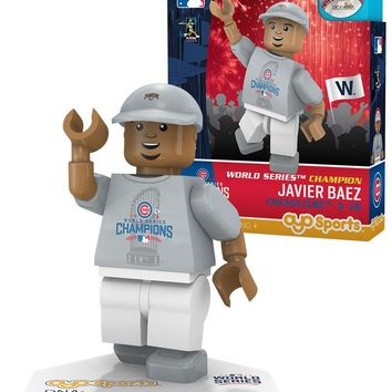 Chicago Cubs JAVIER BAEZ World Series T-Shirt Limited Edition OYO Minifigure