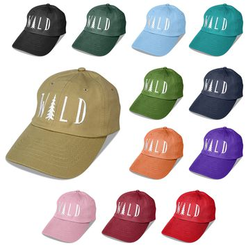 DALIX Hiking Hats Dad Hat WILD Custom Caps Embroidered Cap
