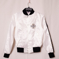 Snob Jacket Costume, Presidents Club White Jacket, Small Snob Jacket, White Silk Sports Coat, Michael Jackson Costume