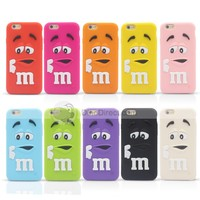 For iphone 6 cases M&M's chocolate candy rubber silicone cartoon cell phone case covers 4.7 Inch - DinoDirect.com