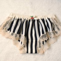 Striped Chiffon Sleep Boxer/style SAKURANBO(small)