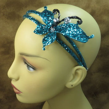 Headband - Butterfly - Turquiose - Blue - Hair Accessories - Flower Girl - Girls Headband - Headbands For Gifts - Headbands For Woman