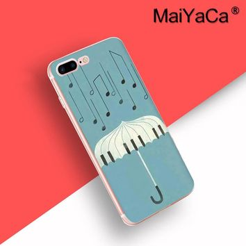 MaiYaCa Piano keys design Clear Cell Phone Case Cover For iPhone 8 plus Case