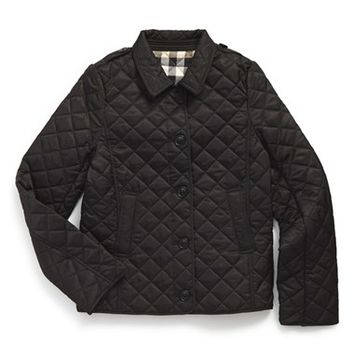 Girl's Burberry 'Mini Ashurst' Quilted Jacket,