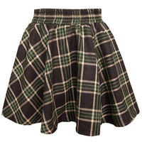 Plaid Woolen Skirt - OASAP.com