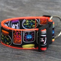 Mad Scientist Halloween Large Breed Dog Collar