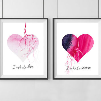 Heart love quotes - Sweet Oxygen Collection - Love quotes - Set of 2