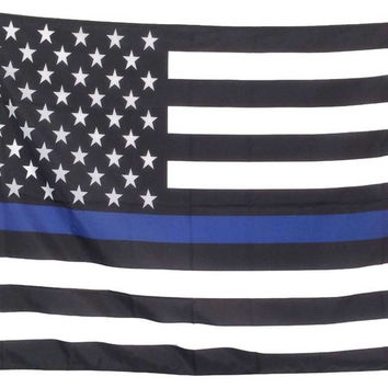 Law Enforcement Flag MIL Queen Blanket - Free Shipping in the Continental US!