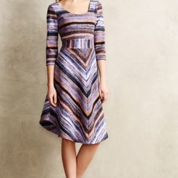 Kebren Stripe Knit Dress by Maeve Purple Motif