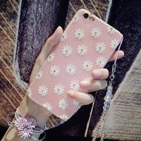 Best Protection Rhinestone Daisy iPhone 7 7 Plus & iPhone 6 6s Plus & iPhone 5s se Case Personal Tailor Cover + Gift Box