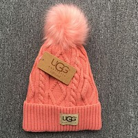 UGG Fashion Unisex Winter Warm Knit Hat Cap(6-Color) Pink I