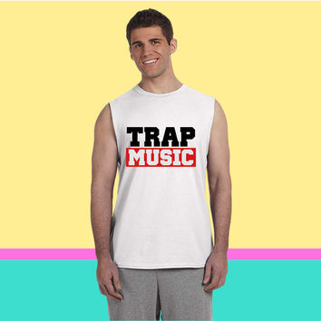 TRAP MUSIC - BASS PARTY Sleeveless T-shirt