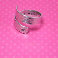 I Love You To The Moon And Back Secret Message Wrap Ring - Twist Ring