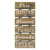 New View ''Blessed'' Wood Wall Decor