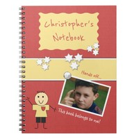Kids Red Photo Spiral Notebook