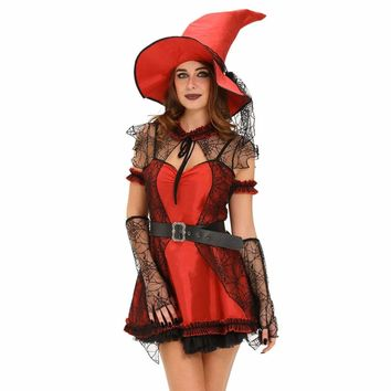 6pcs Mischievous Witch Halloween Costume