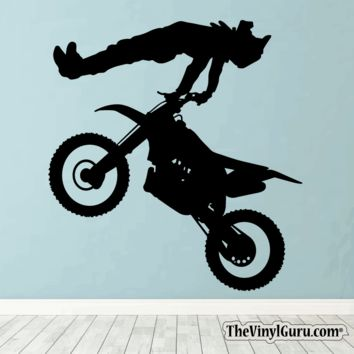 Motocross Wall Decal - Dirt Bike Sticker #00010