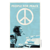 John Lennon - People for Peace Poster on Sale for $7.95 at The Hippie Shop