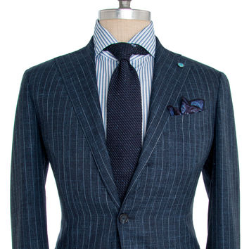 Eidos Napoli Blue Chalk Stripe Suit